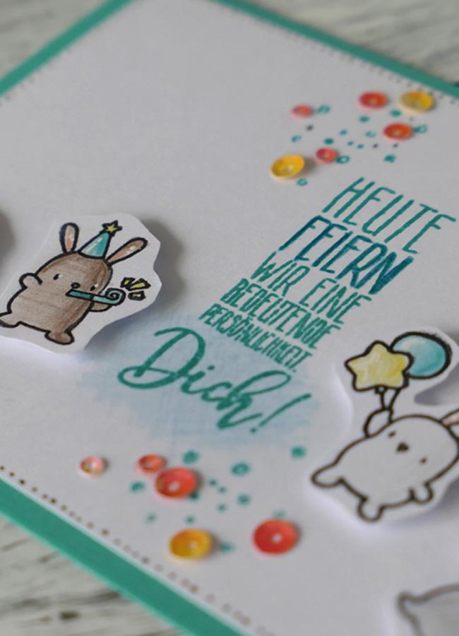 Grußkarte Little Bunny