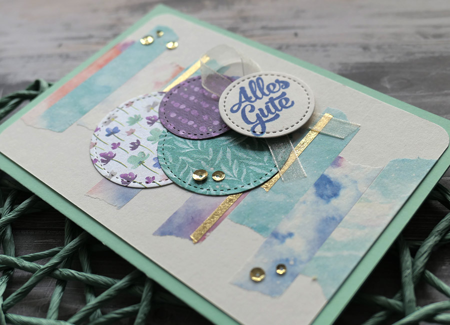 Grußkarte Grußkarte Washi Tape