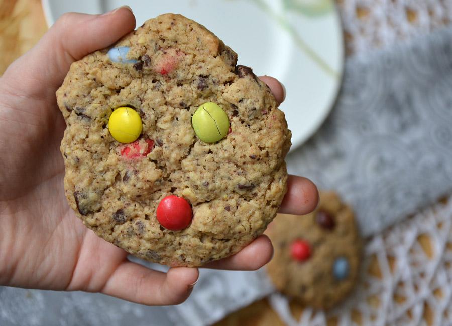 American Cookies mit M&Ms