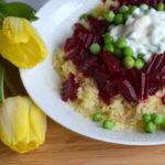 Bulgur-Salat mit Roter Beete & Erbsen