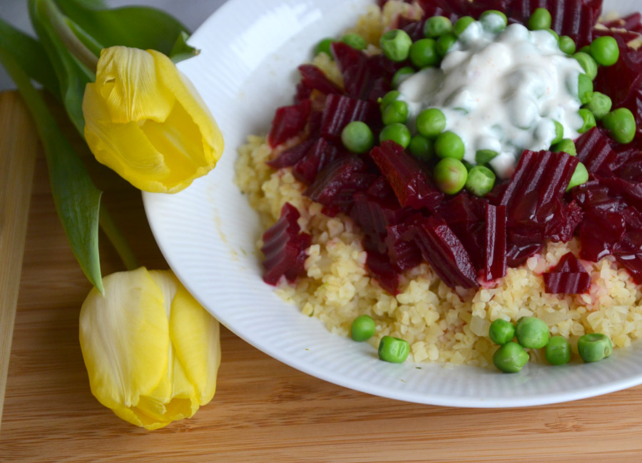 Bulgur-Salat mit Roter Beete