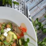 Quinoa-Pfanne mit Zucchini & Pilzen