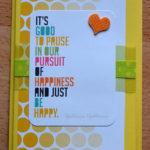 Geburtstagskarte mit Project Life II