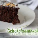 Schokoladenkuchen mit Müsli