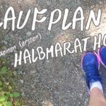 Laufplan für den ersten Halbmarathon