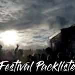 Travelguide ~ Festival Packliste 2017