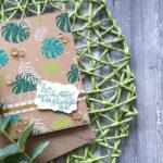 "Geburtstagskarte ""Blätterregen"""