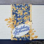 """Geburtstagskarte """"Garten-Impressionen"""""""