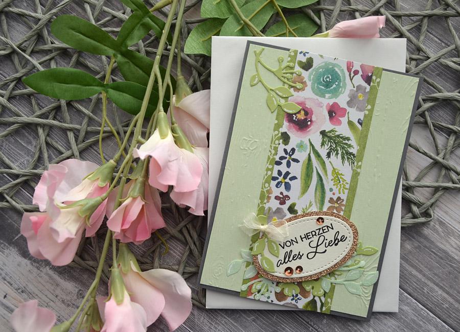 Grußkarte Frosted Floral