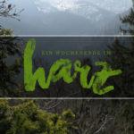 Ein Kurzurlaub im Harz