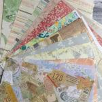 14 Bögen Designerpapier von verschiedenen Marken 30x30cm (z.T. angeschnitten) - 5€