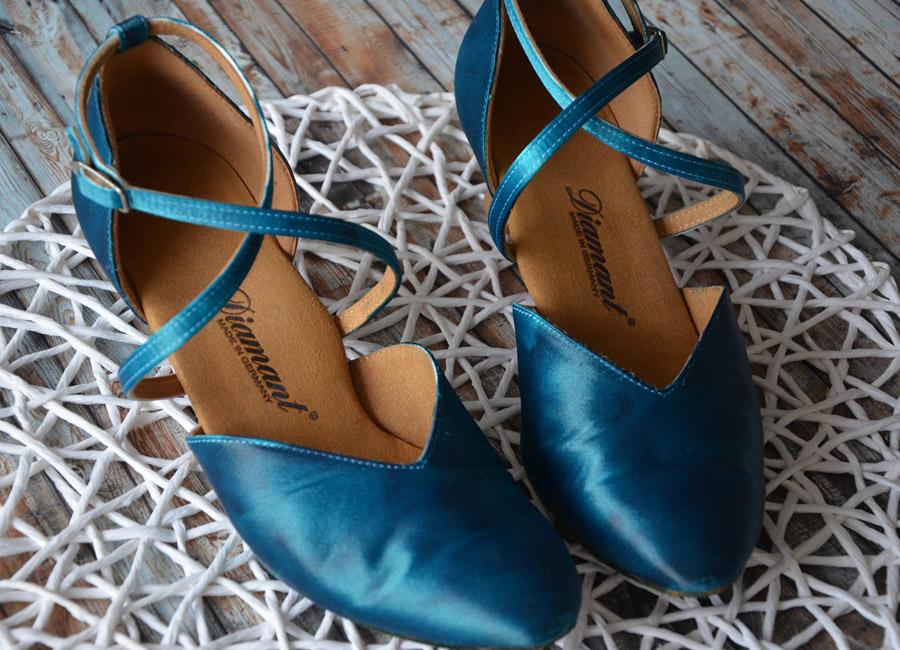 Satinschuhe Selbst Farben Himmelsblau Org