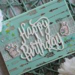 "Geburtstagskarte ""Silberpfeil"""