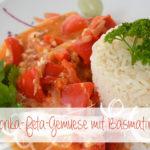 Paprika-Feta-Gemüse mit Basmatireis