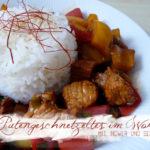 Putengeschnetzeltes im Wok<br>mit Ingwer und Sesam